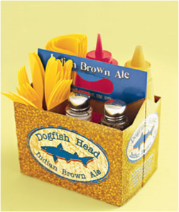 Reuse a six pack older and turn it into a condiments holder!